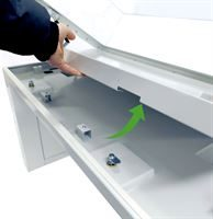 Table top lifts out for storage or environmental control