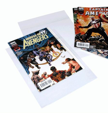 Comic storage bags acid free and archival