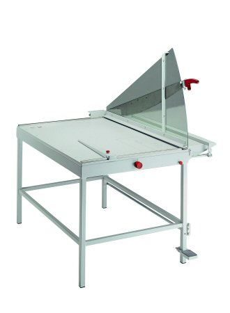 Table chopper for board and paper with foot clamp