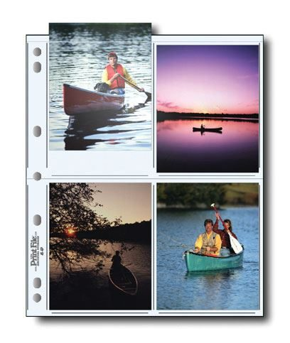 """Page holds eight 4""""x5"""" prints"""