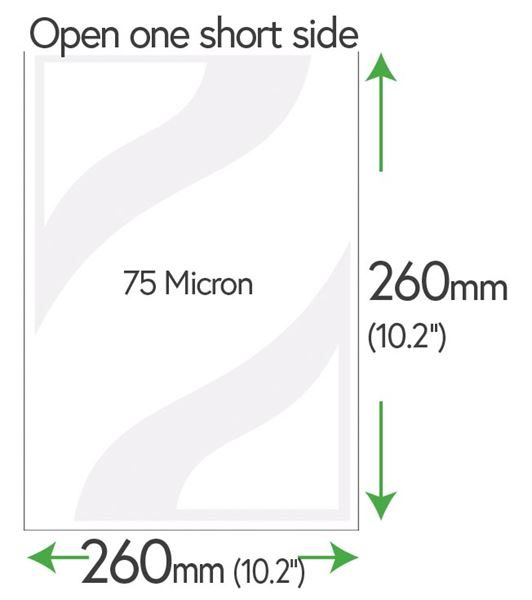 260mm x 260mm Clear Pockets 75 Micron