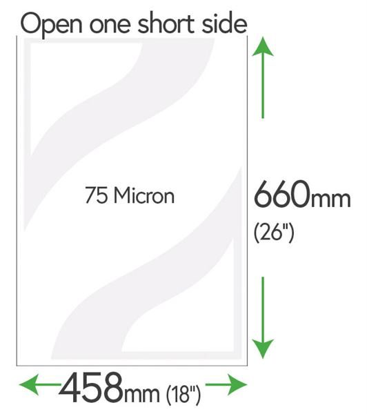 660mm x 458mm Clear Pockets 75 Micron