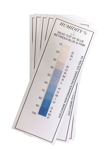Humidity indication cards