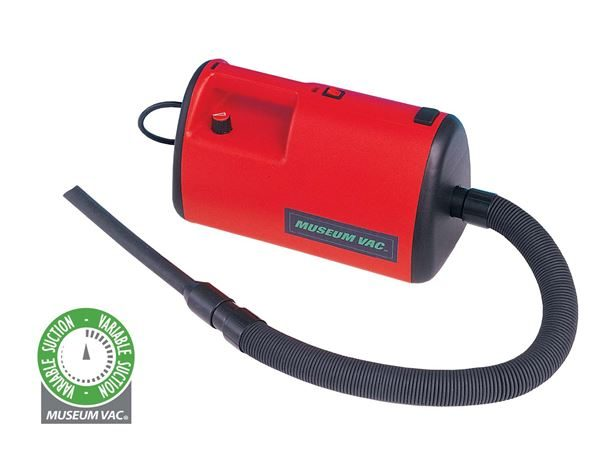 Museum Vac vacuum cleaner with variable suction control