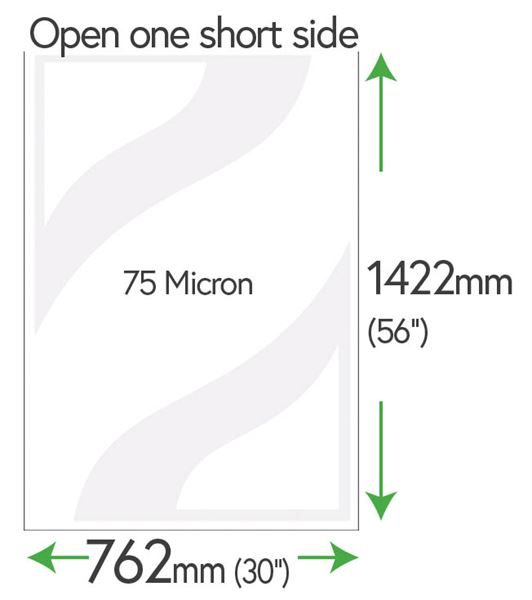 1422mm x 762mm Clear Pockets 75 Micron Polyester