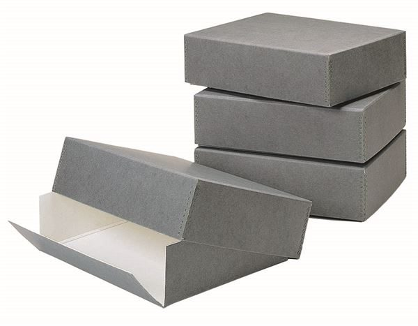 Drop front opening paper storage box