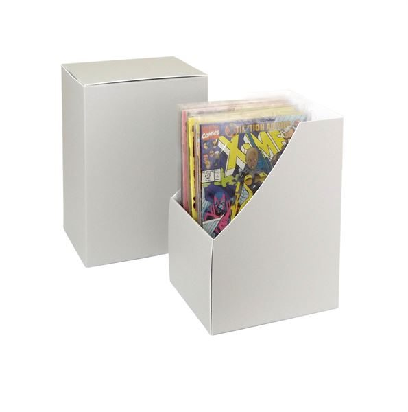 Comic book short box shelf file with slipcase
