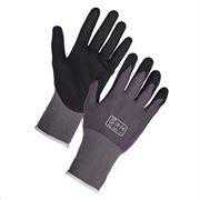 Breathable nitrile work gloves
