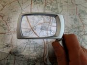 Magnifier with light on map