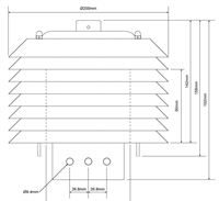 Outdoor datalogger cover dimensions