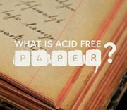 What is acid free paper?