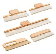 Wide handle conservation brushes