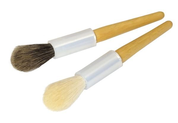 Fragile object dusting brushes - Badger and goat hair