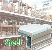 Steel shelf warehouse shelving system