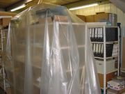 Plastic sheeting dust cover
