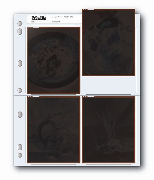 """Holds four 4""""x5"""" negatives or transparencies"""