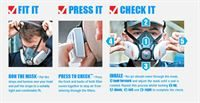 How press to check dust mask works