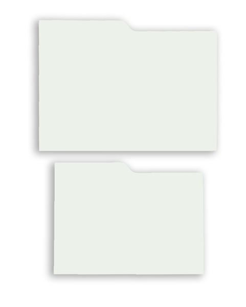 Archival index cards for photographs